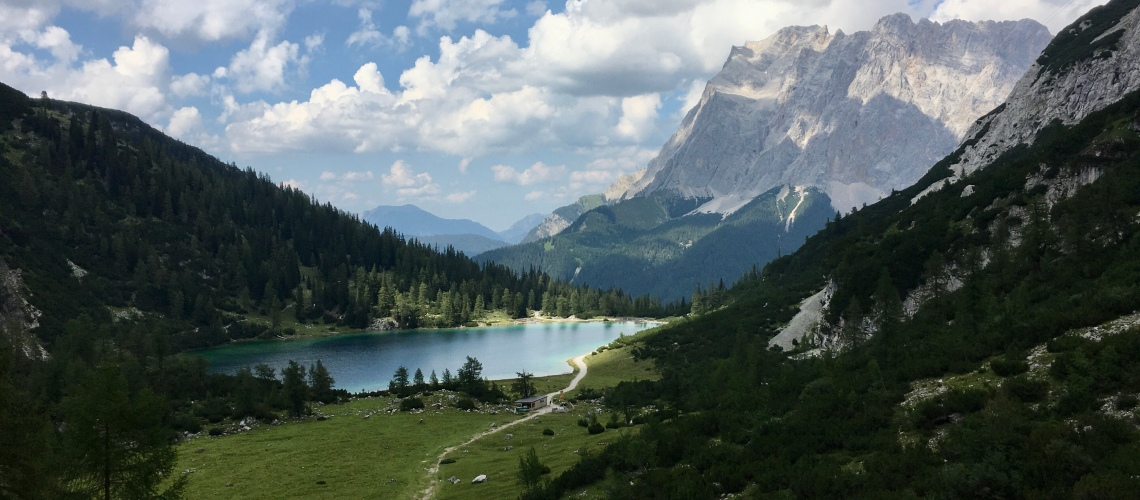 View over the Seebensee.