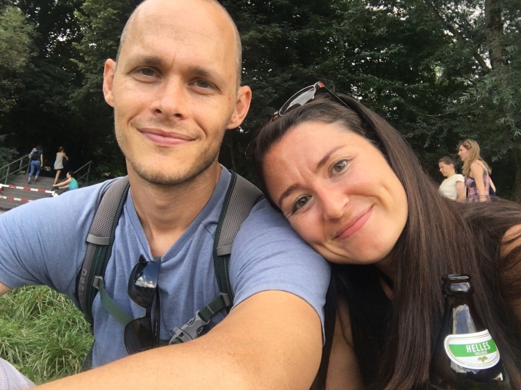 Shane and Whitney at the Isar River